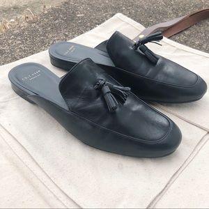 Cole Haan ZeroGrand Leather Mules W/ Tassels